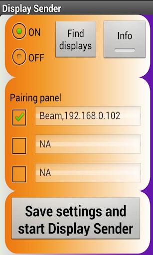Display sender