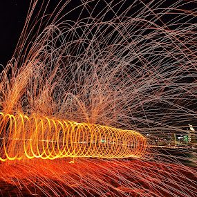 Glorietta Park Spin by Anthony Drake - City,  Street & Park  City Parks ( san diego, light painting, spinning, night photography, night lights, california, parks, steelwool, cityscape, city park, city,  )