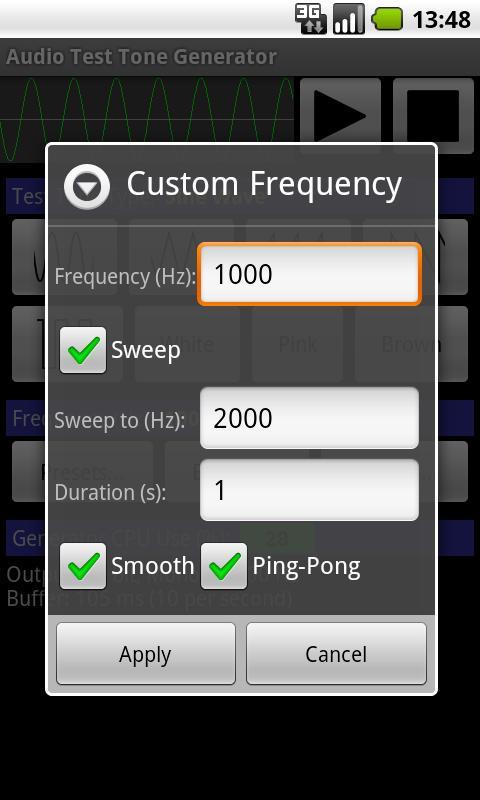 Audio Test Tone Generator- screenshot