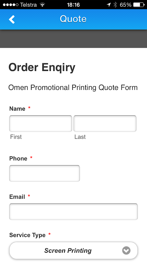 Omen Printing- screenshot