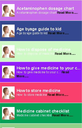Baby Medicine Guide