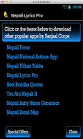 Screenshot of Nepali Lyrics Pro