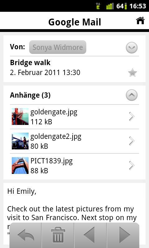 A1 Mobile Mail- screenshot