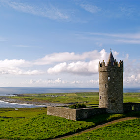 Doonagore Castle by Alex Cassels - Buildings & Architecture Public & Historical ( county clare, doolin, aran islands, tower, building, republic of ireland, doonagore castle, historical, landscape, alex cassels )