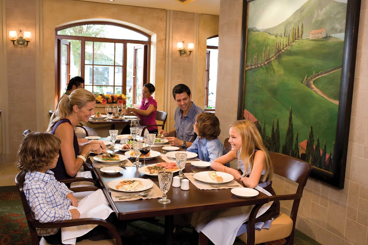 Giovanni's aboard Oasis of the Seas serves up Italian cuisine that the whole family will enjoy.