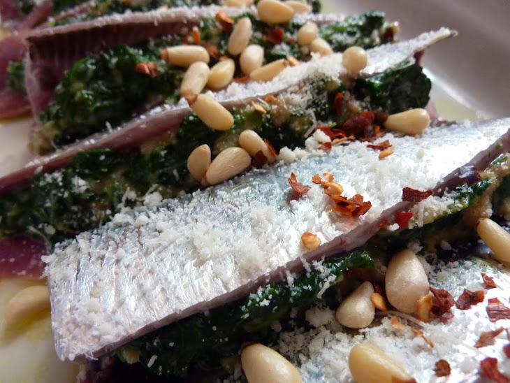 Spinach Stuffed Sardines