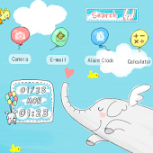 CUKI Theme Blue Elephant