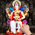 Ganesh Ji Flowers Touch LWP icon