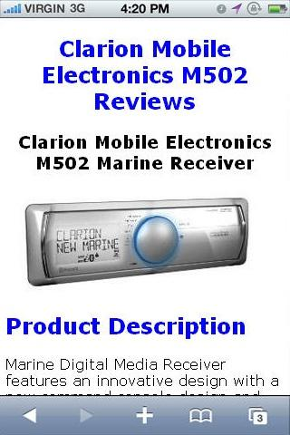 M502 Marine Receiver Reviews