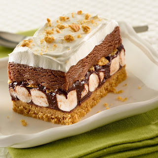Smores Ice Cream Cake.