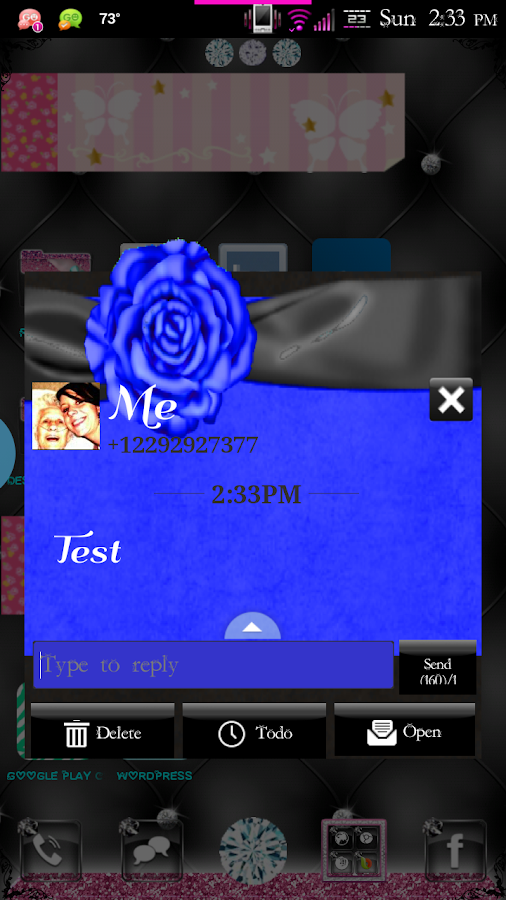 Simply Blue GO SMS Pro Theme - screenshot