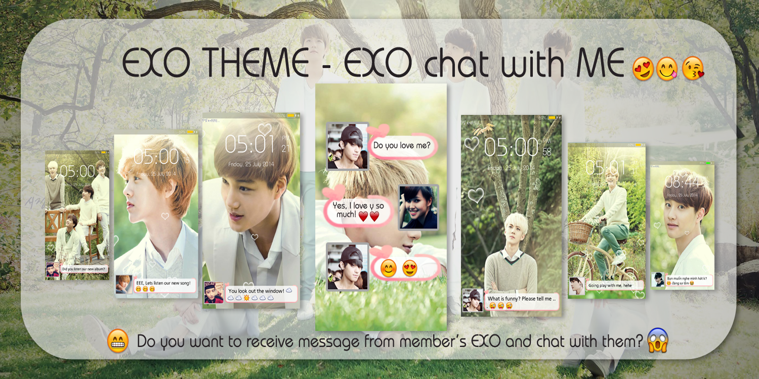 Google theme exo xoxo