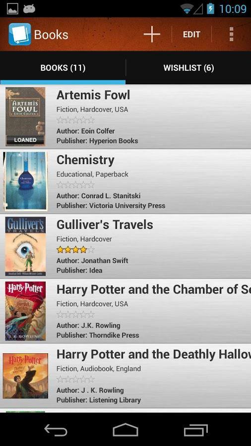 How To Make A Book Cover App : Book manager bookshelf isbn scanner library list android