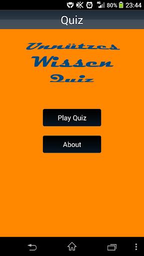 Unnützes Wissen Quiz