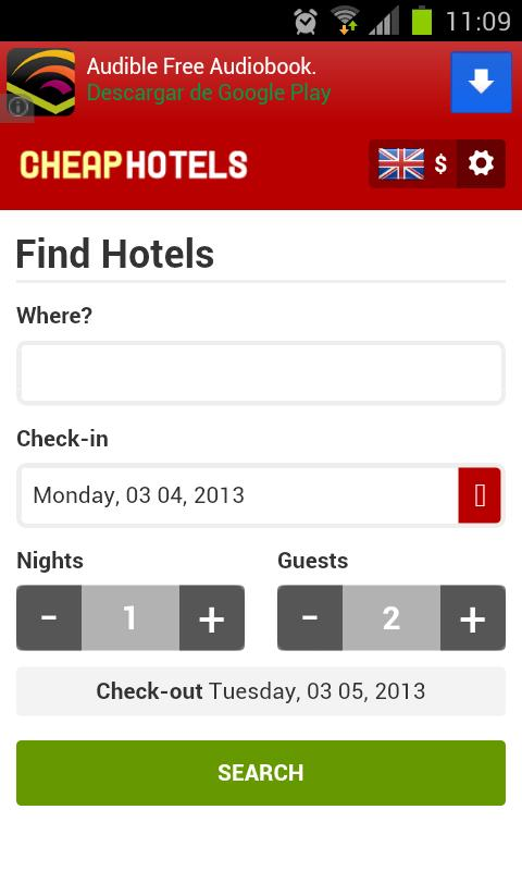 Cheap Hotels - screenshot
