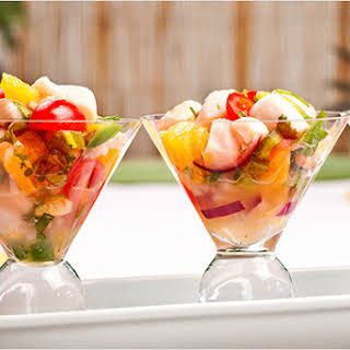 Shrimp and Scallop Ceviche with Tequila.
