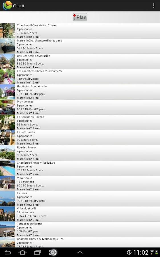 Gîtes et Chambres d'hôtes - screenshot