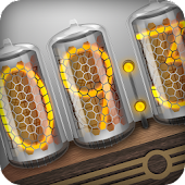 Nixie Clock Widget White