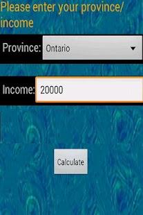Canada Income Tax Calculator- screenshot thumbnail