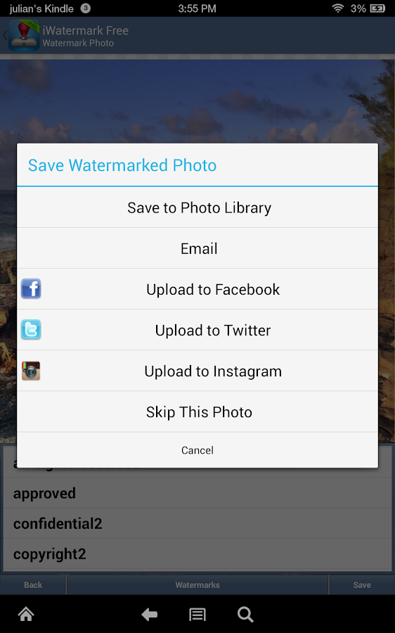 iWatermark Free Watermarking- screenshot
