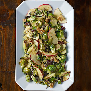 Roasted Brussels Sprout and Apple Salad with Black Walnuts