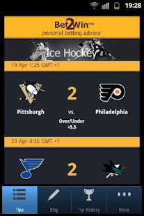 Bet 2 Win - NHL Betting- screenshot thumbnail