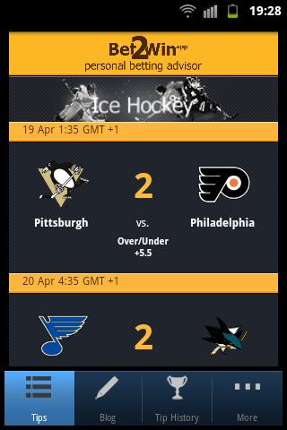 Bet 2 Win - NHL Betting- screenshot