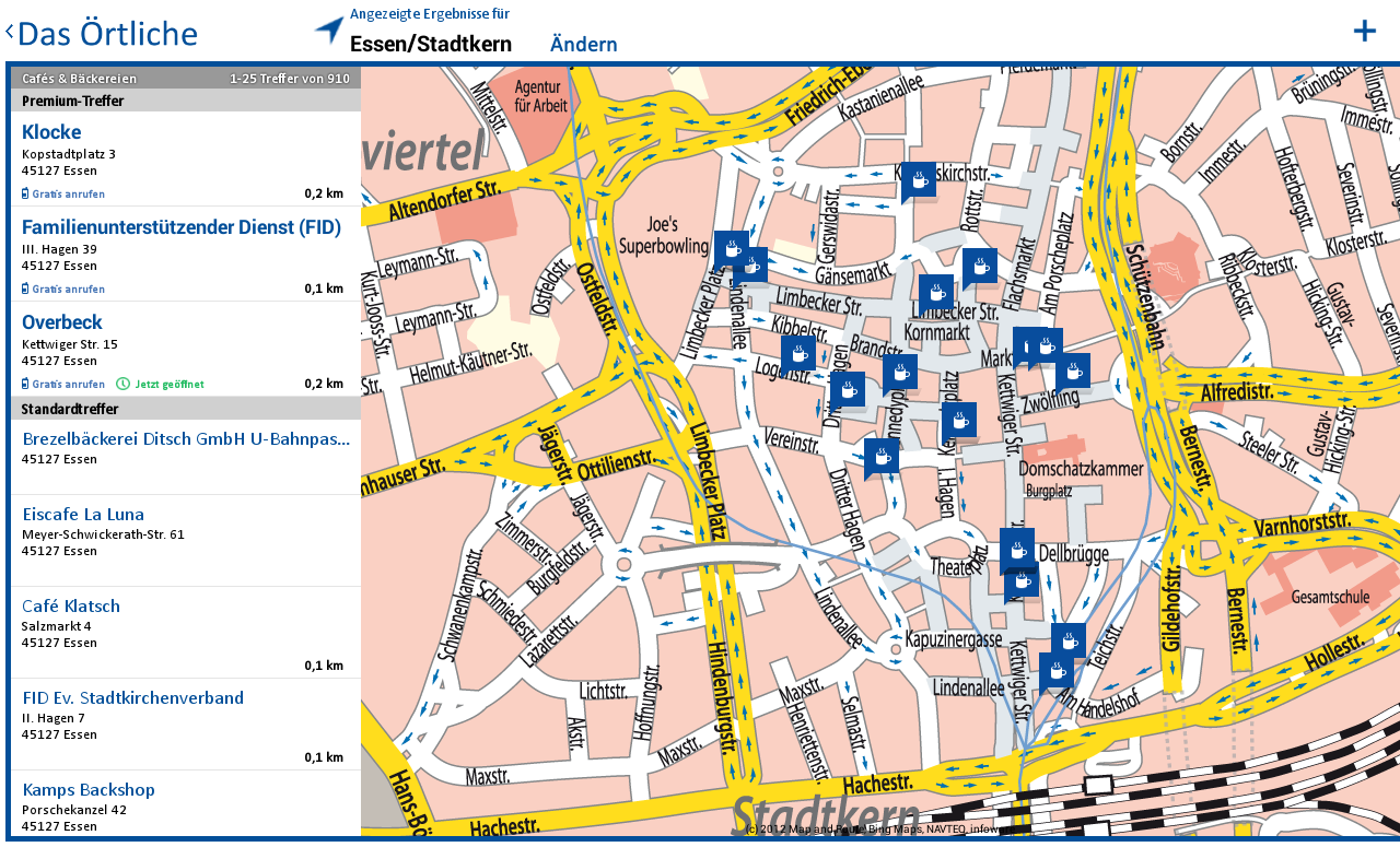 Das Örtliche Telefonbuch - screenshot