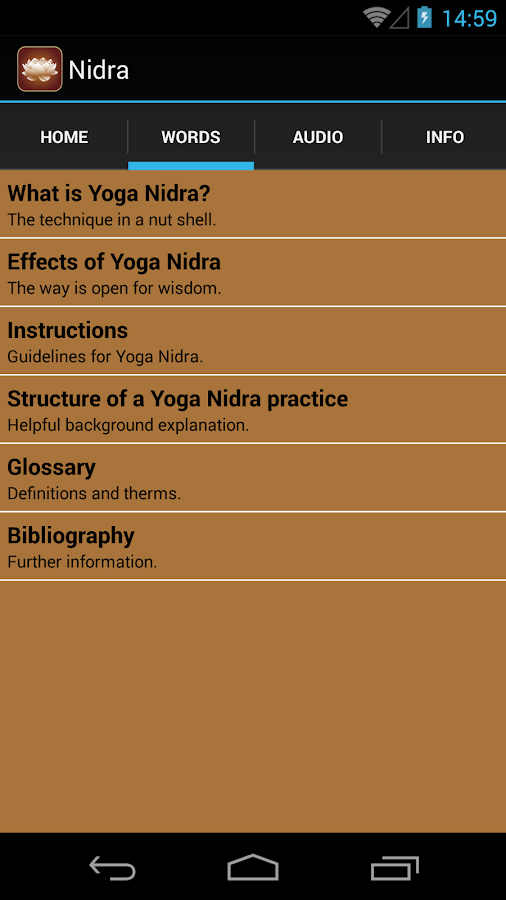 Yoga Nidra english- screenshot