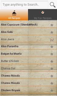 Screenshots for Indian Recipe Book
