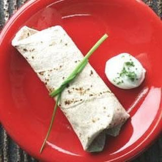 Zucchini Wrapped in Tortillas.