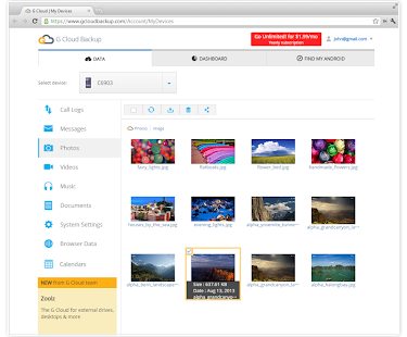 G Cloud Backup - screenshot thumbnail