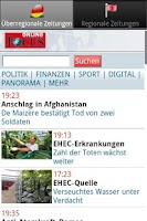 Screenshot of Zeitungen DE frei (Deutsch)
