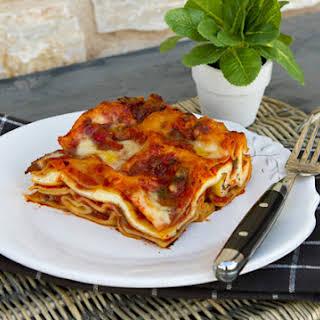 Sausage, Mushroom, & Ricotta Cheese Lasagna.