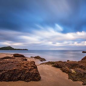 Cloud Traffic by Gabriele Copez - Landscapes Beaches ( shore, water, sky, sea, long exposure, seascape, beach, rocks,  )