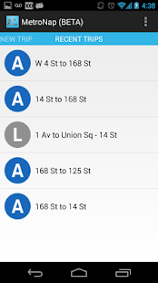 Metro Nap App for NYC Subway - screenshot thumbnail
