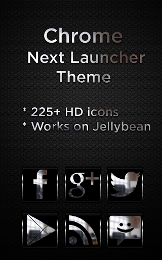 Next Launcher Krome Theme
