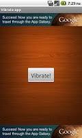 Screenshot of Vibrate app