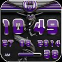 dragon digital clock purple icon