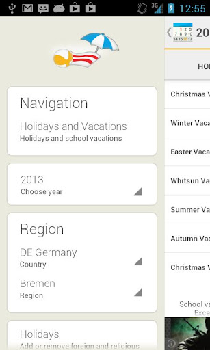 Holidays and Vacations
