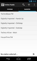 Screenshot of Online Radio