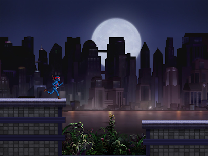 Ninja Dark City Run RoofTop - screenshot thumbnail