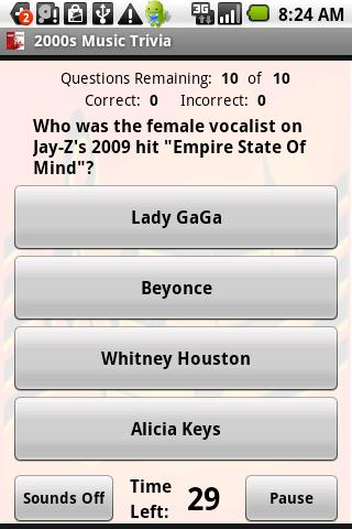 2000s Music Trivia - screenshot
