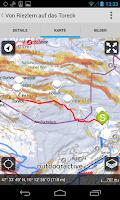 Screenshot of Ortovox Bergtouren App