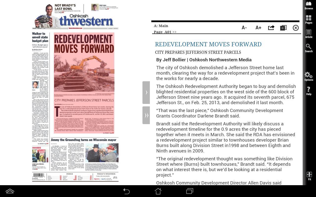 Northwestern Print Edition- screenshot