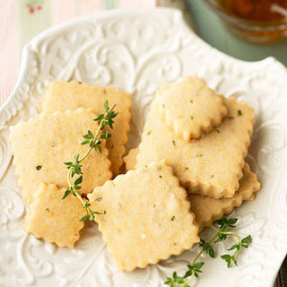 Lemon-Thyme Shortbread Cookies Laced with Honey.