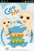 Screenshot of GeoMe Messenger