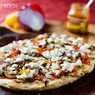 Roasted Vegetable & Goat Cheese Flatbread