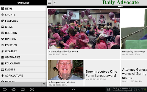 The Daily Advocate- screenshot thumbnail