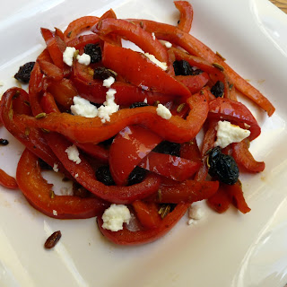 Red Pepper Saute with Raisins and Fennel Seed